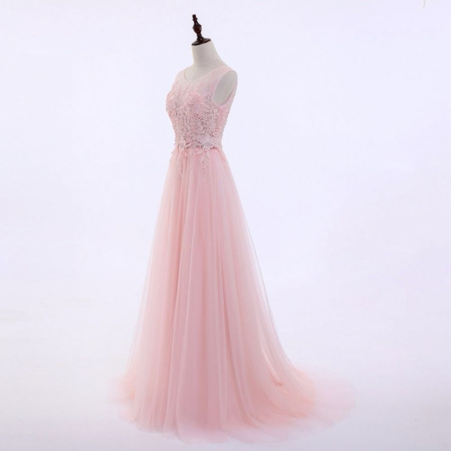 růžové tylové sexy na ramínka společenské šaty na ples - plesové ... e57e31dd20